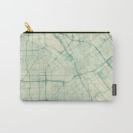 San Jose Map Blue Vintage Carry-All Pouch