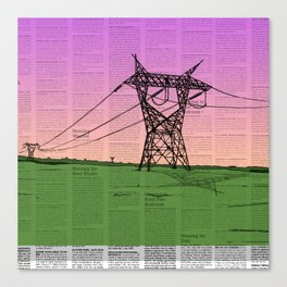 For Juliet (Powerlines-Classified) Canvas Print