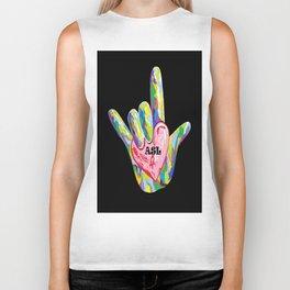 I Heart ASL Biker Tank