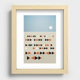 Gulf Flock Recessed Framed Print