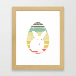 Have This Nice Vintage Retro Design With A Silhoutte Of A Cute Rabbit T-shirt Design Easter Eggs Framed Art Print