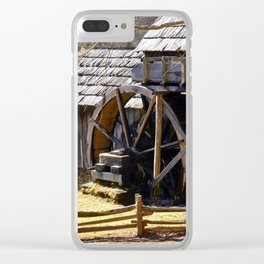 Water Wheel Cabin Clear iPhone Case