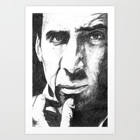 Nicolas Cage Art Print