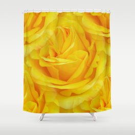 Modern Abstract Seamless Yellow Rose Petals Shower Curtain