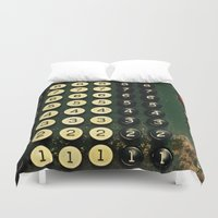 numbers Duvet Covers featuring Numbers by Hazel Bellhop
