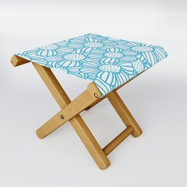 Field of daisies - teal Folding Stool