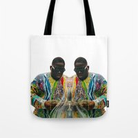 biggie smalls Tote Bags featuring Biggie Smalls by IFEELFREEDXM