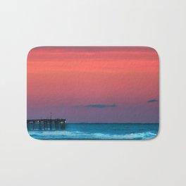 Sunset by the Avalon Pier Bath Mat