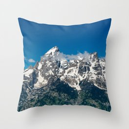 Grand Tetons Panorama Throw Pillow