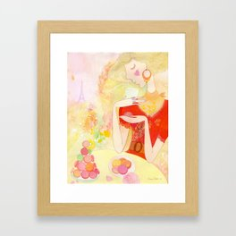 Dreaming in Paris  Framed Art Print