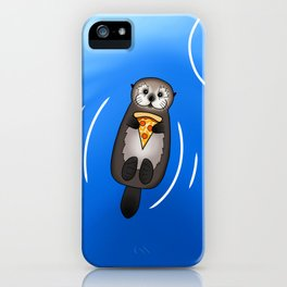 Sea Otter with Pizza iPhone Case