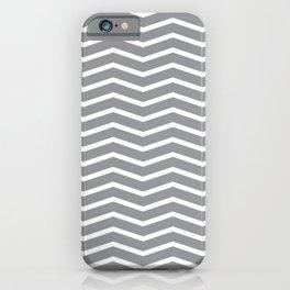 Grey Chevron Pattern 3 iPhone Case