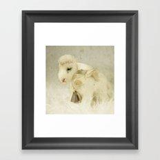 Vintage Toy Lamb Framed Art Print