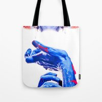 abyss Tote Bags featuring ABYSS by Lola Montiel