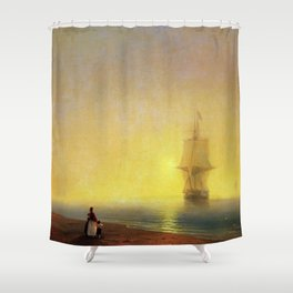 Morning at Sea by Ivan Aivazovsky Shower Curtain