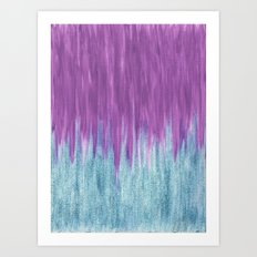 Aqua Sparkle Berry Abstract Art Print