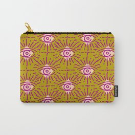 Dainty All Seeing Eye Pattern in Blush Carry-All Pouch