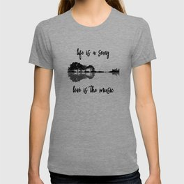 Life Is A Song Nature Guitar Forest Music Lyrics T-shirt
