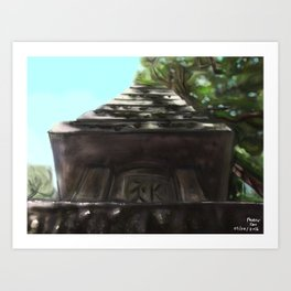 A special thing from memories of Ginkakuji Art Print