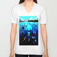 finding nemo V-neck T-shirts featuring nemo by Marwan Baghdadi