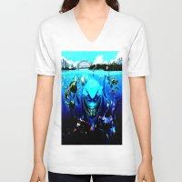nemo V-neck T-shirts featuring nemo by Marwan Baghdadi