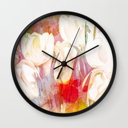 Tulip Fever Abstract Art Wall Clock