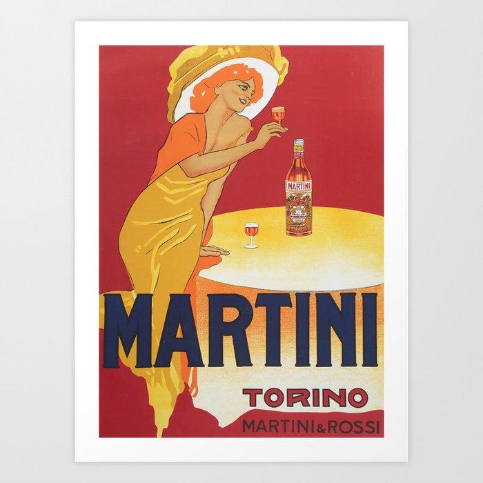 Wine Vintage Poster - Martini Torino by Marcello Dudovich - Italian Advertising Poster Kunstdrucke