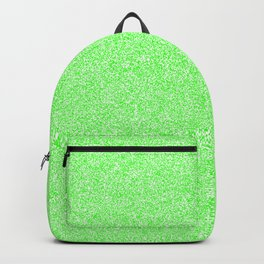 Melange - White and Neon Green Backpack