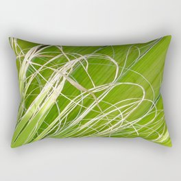 Palm Fan Art Rectangular Pillow