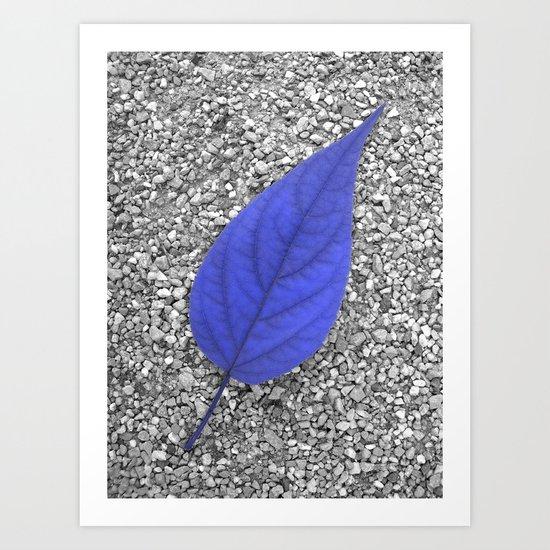 blue leaf IV Art Print