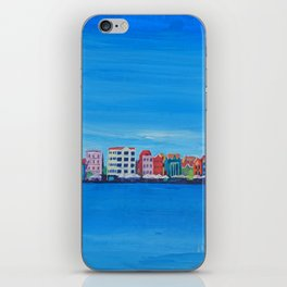 Willemstad Curacao Waterfront in Blue iPhone Skin