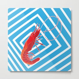 sailor prawn Metal Print
