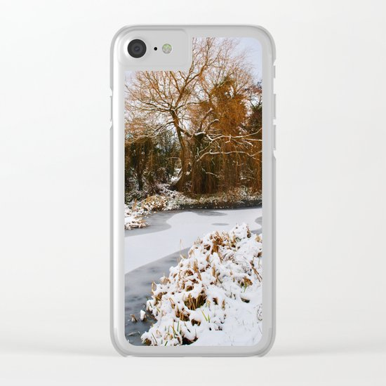 The Old Mill Stream in Winter Clear iPhone Case