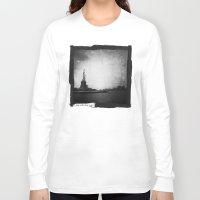 new york Long Sleeve T-shirts featuring New York, New York by Dan Howard
