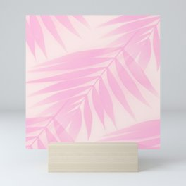 Palm Leaves in Pink Shades #Society6 #decor #buyart Mini Art Print