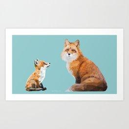 Fox Tenderness Art Print