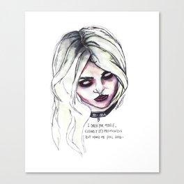 Provocative Canvas Print