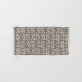 Crackled Scrolled Ikat Pattern - Mocha Tan Hand & Bath Towel