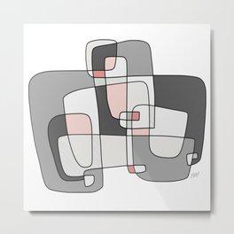 Bird's Nest - Modern Abstract Artwork Metal Print
