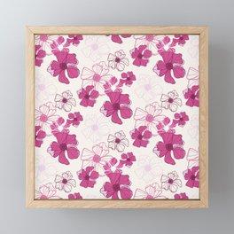 Pink Poppy Bash Framed Mini Art Print