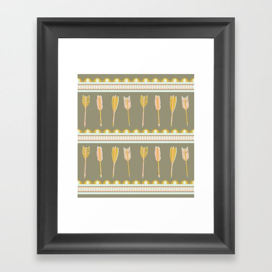 aztec arrows Framed Art Print