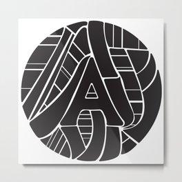 Circle A Metal Print