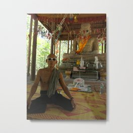 Cambodian Monk in Ray-Ban Metal Print