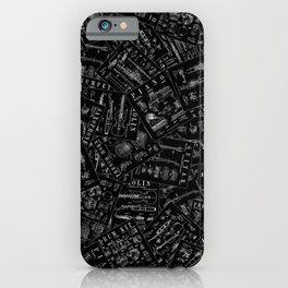 Musical Instrument Vintage Patent Pattern iPhone Case