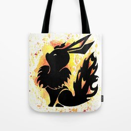 Flareon Splash Silhouette Tote Bag