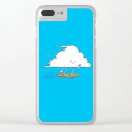 Cloud Skater Clear iPhone Case