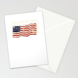 This Is Why Serve American Patriotic Veteran Stationery Cards