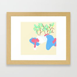Girl and Gooseberry Framed Art Print
