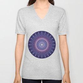 Blue Moon Mandala Unisex V-Neck