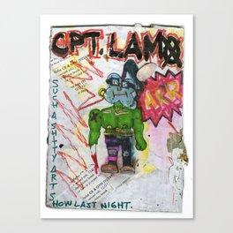 Captain Lamo Canvas Print
